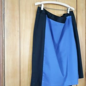 Liz Claiborne royal blue black skirt